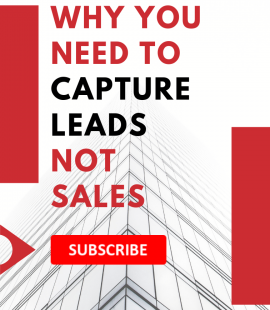 Capture leads - not sales