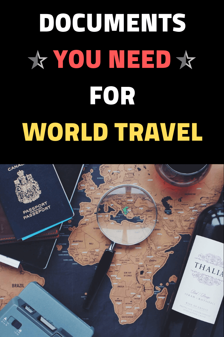 Documents you need for world travel